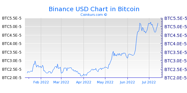 Binance USD Chart 6 Monate